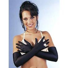 Damenhandschuhe Satin schwarz S-L