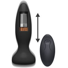 14,3 x 3,9 cm Doc Johnson - A-Play - Thrust - Experienced - Rechargeable Anal Plug black -Akku Power