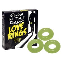 Love Ring Glow in the Dark - 3er Set