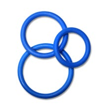 3 er Silikon Cockring Set - Cockstar Circles of Love blue