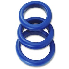 - 3 er Silikon Cockring Set - Cockstar Blue Boy Rings