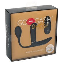 GoGasm Pussy & Ass Vibrator black - Akku Power