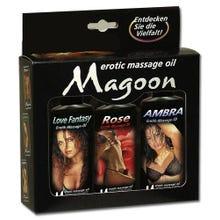 Magoon Massage-Öle 3er Set - 3 x 100ml