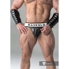 MASKULO - Fetish Jockstrap - Detachable codpiece - Black