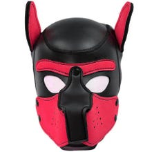 HardcoreDeLuxe Neoprene Puppy Hood red