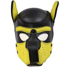HardcoreDeLuxe Neoprene Puppy Hood yellow