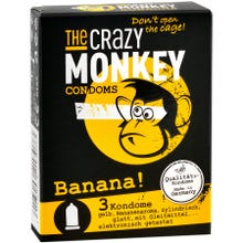 The Crazy Monkey Condoms Banana 3 St.