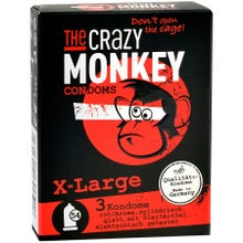 The Crazy Monkey Condoms X-Large 3 St.