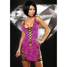 Kleidchen Lolitta Zebra pink/schwarz