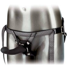 16,5 x 3,8 cm Her Royal Harness - The Royal Vibrating Set - Strap-On grey - Akku Power