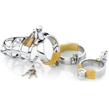 Cockstar Keuschheitskäfig Metall mit 3 Ringen 40, 45, 50 mm silber
