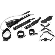Complete 8 Piece Bondage Set for Beginners I black