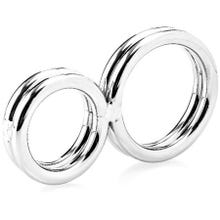 Zenn - Two-Ringed Deluxe Cockring 32 mm silver - AKTIONSPREIS