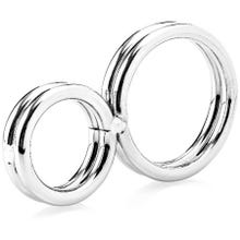 Zenn - Two-Ringed Deluxe Cockring 38 mm silver - AKTIONSPREIS