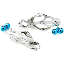 Zenn Japanese Large Clover Clamps with Bells silver