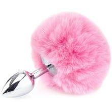 14 x 2,6 cm Zenn Deluxe Fluffy Bunny Tail pink