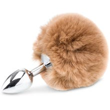 14 x 2,6 cm Zenn Deluxe Fluffy Bunny Tail brown