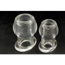 Ass Tunnel Plug Silicone TPR Medium - Clear
