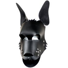HardcoreDeLuxe Dogface Leather Mask black | SUPERSALE