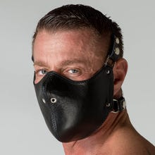 Leather Mouth Restrictor black | SUPERSALE
