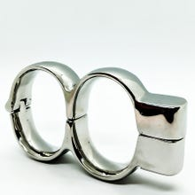 HardcoreDeLuxe Stainless Steel Irish Handcuffs large silver