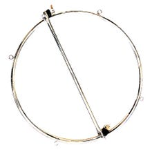 HardcoreDeLuxe Stainless Steel Bondage Wheel silver