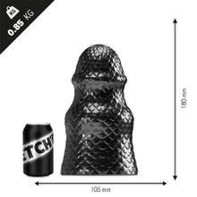 17,5 x 11,0 cm Stretchr Scaly Butt Plug M Black Metallic