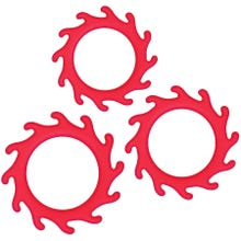 Cockring Set - Renegade - Gears red