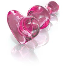 9,5 x 2 - 3,4 cm Glasplug - Icicles No.75 pink