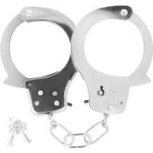 Darkness Metal Pleasure Handcuffs silver