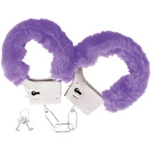 Darkness Pleasure Furry Handcuffs purple
