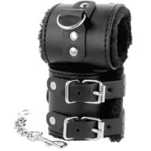 Darkness Wrist Restraints with Fur black