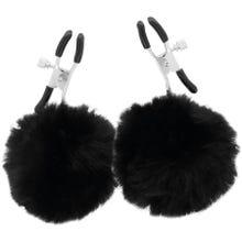Darkness Fur Ball Nipple Clamps black