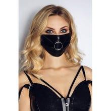 Noir Handmade Maske mit Ring black Gr.S-L