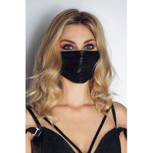 Noir Handmade Maske mit Spitze black Gr.S-L