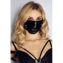 Noir Handmade Maske mit Nieten black Gr.S-L
