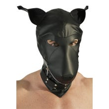 Dog Mask Lederimitat