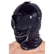 Lederimitat Maske mit Augenklappen