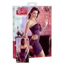 Red Corner Neckholder-Kleid violett