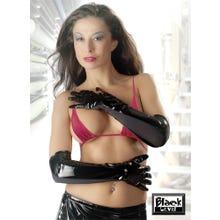 Lack-Handschuhe schwarz
