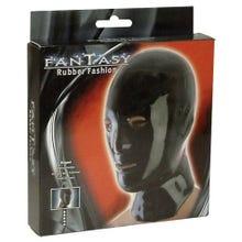Latex Kopfmaske Fantasy Rubber schwarz - Universalgröße