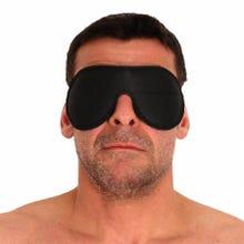 The Red - Leder Augenmaske black