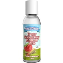 Vince and Michaels Fruity Strawberry Rhubarb Bliss Flavored Lubricant 50ml