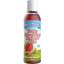 Vince and Michaels Warming Massagelotion Strawberry Rhubarb Bliss Flavored 150ml