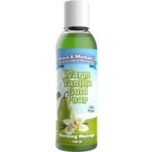 Vince and Michaels Warming Massagelotion Warm Vanilla Gold Pear Flavored 150ml