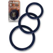 Cockring-Set TRI-RINGS blue