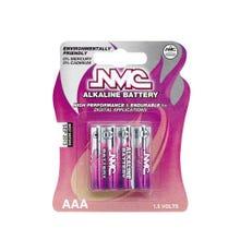 Batterien Alkaline Micro AAA 1,5V - 4 Stück Packung