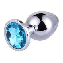 9,3 x 4 cm RelaXxxx Silver Starter Plug Size L blue