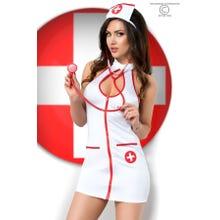 Chilirose Krankenschwester-Kleidchen-Set 5-teilig