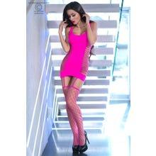 Chilirose Nahtloses Minikleid pink Gr.S/M 36/38